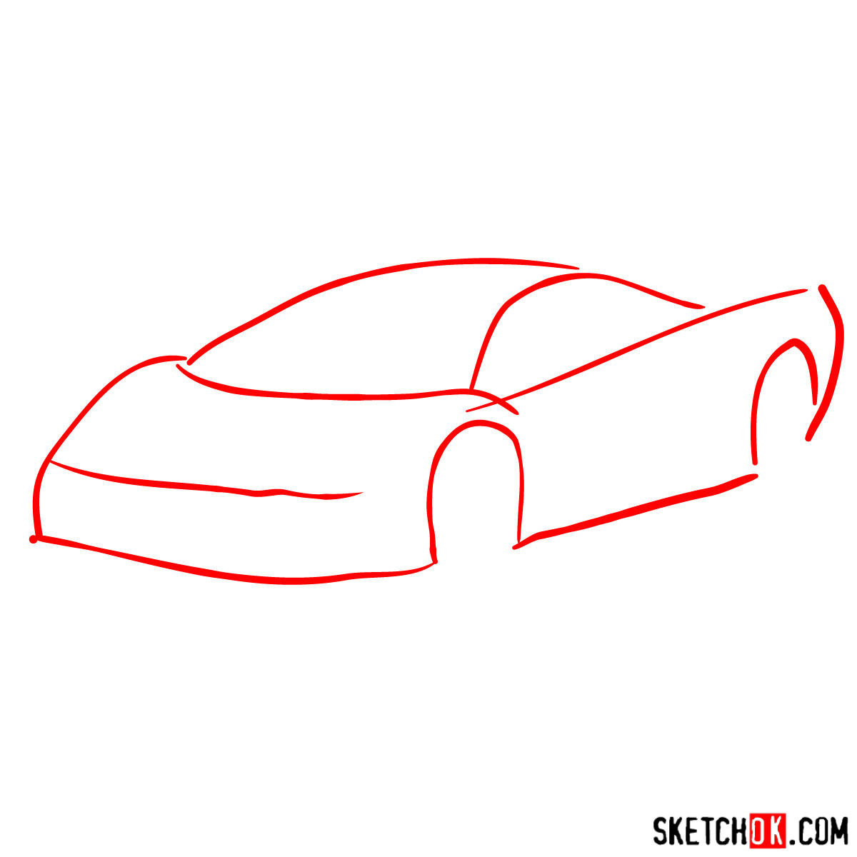 How to draw SSC Ultimate Aero TT 2006 - step 01