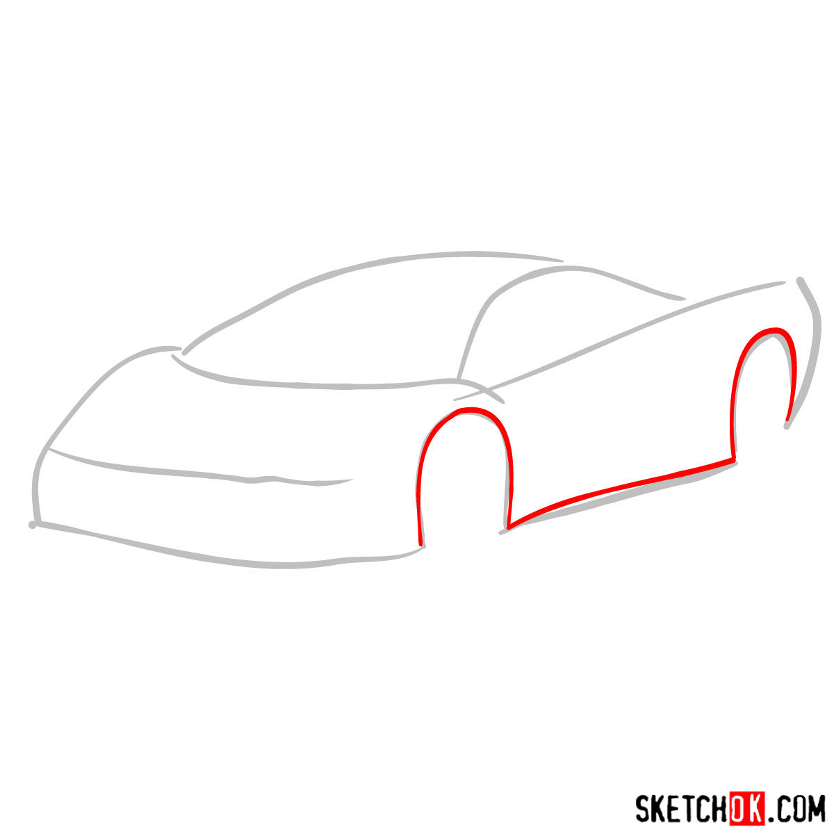 How to draw SSC Ultimate Aero TT 2006 - step 02