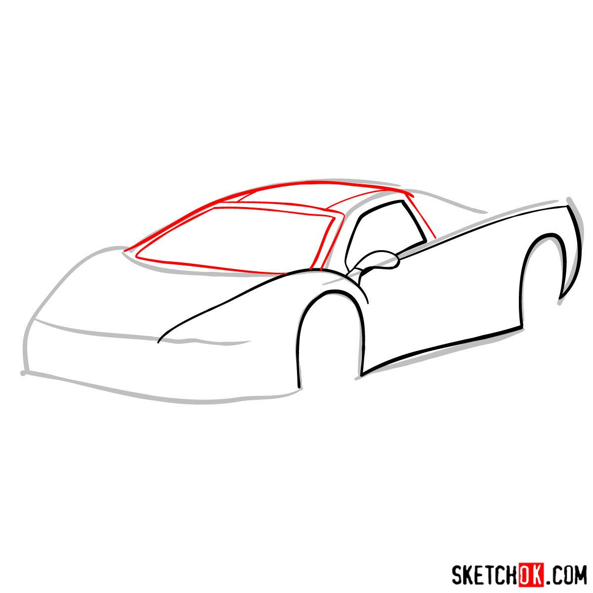 How to draw SSC Ultimate Aero TT 2006 - step 04