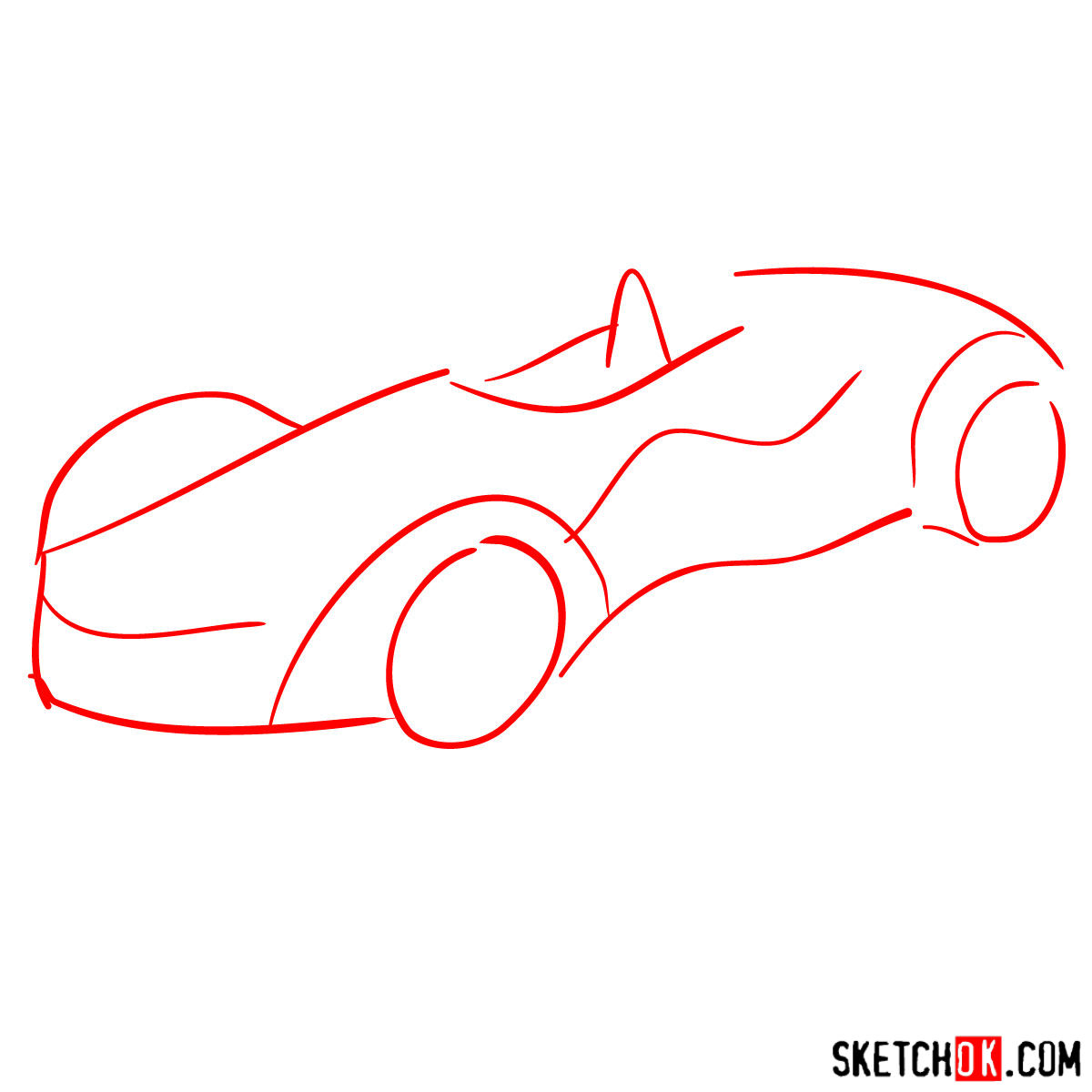 How to draw Bac Mono - step 01