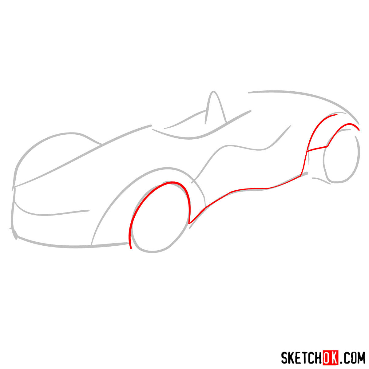 How to draw Bac Mono - step 02
