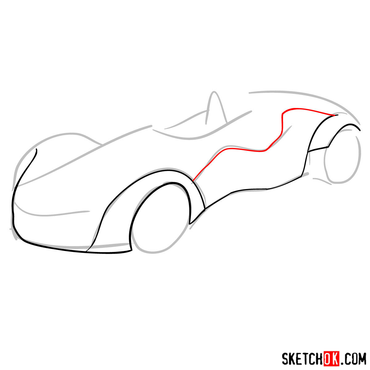 How to draw Bac Mono - step 04
