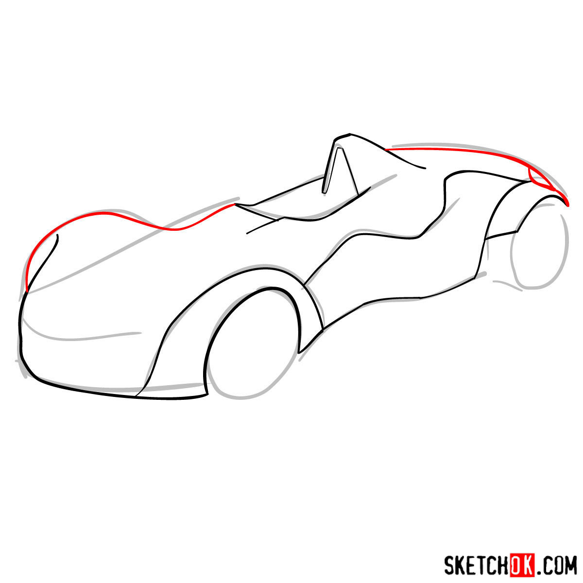 How to draw Bac Mono - step 06
