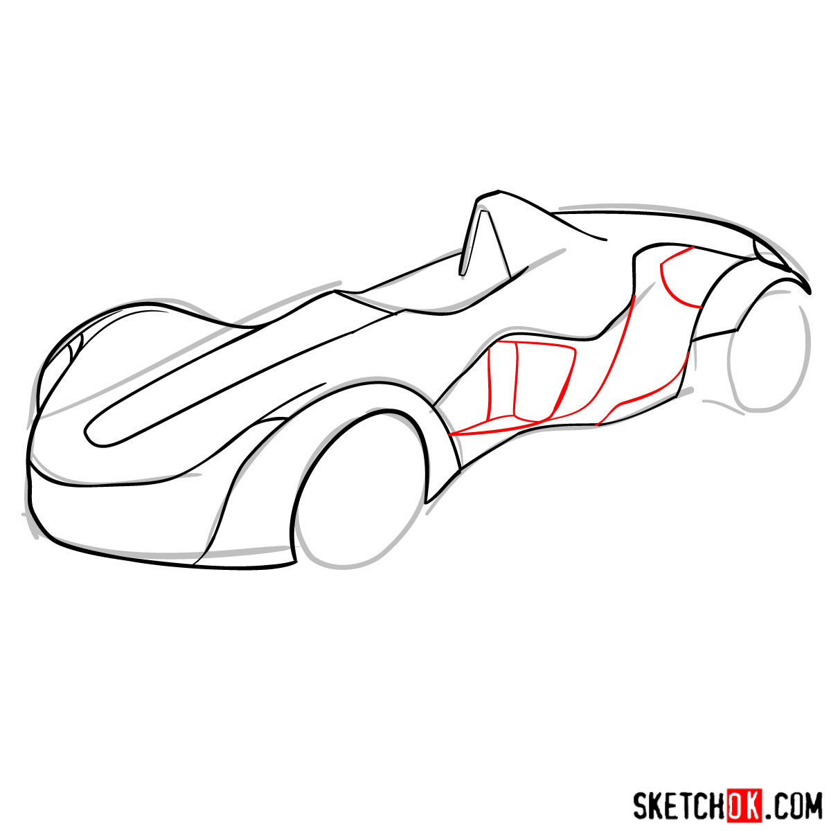 How to draw Bac Mono - step 08