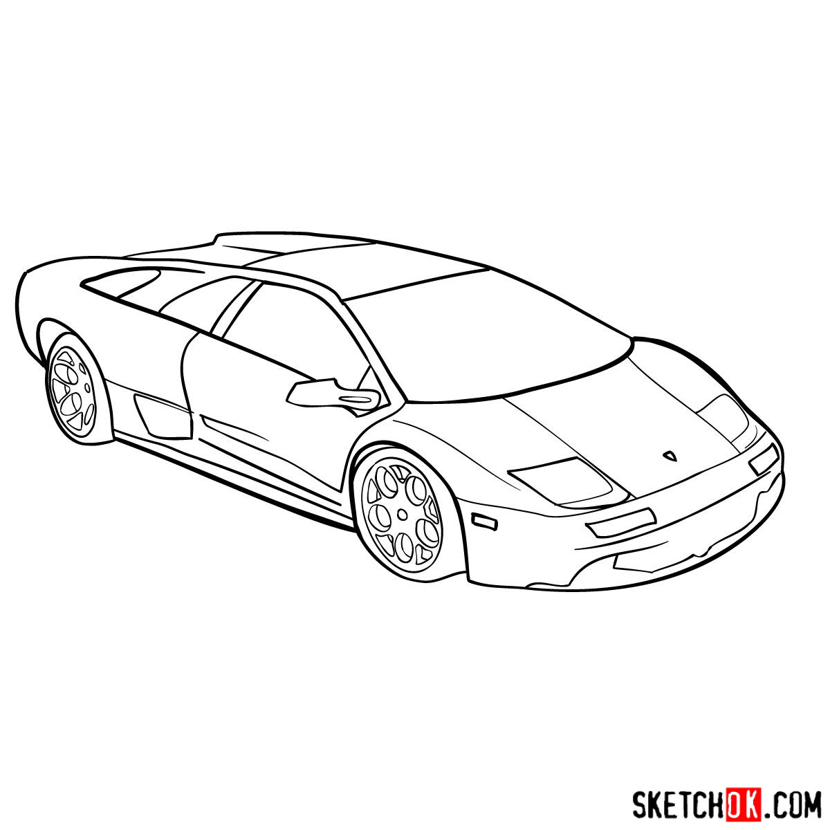 How To Draw Lamborghini Diablo