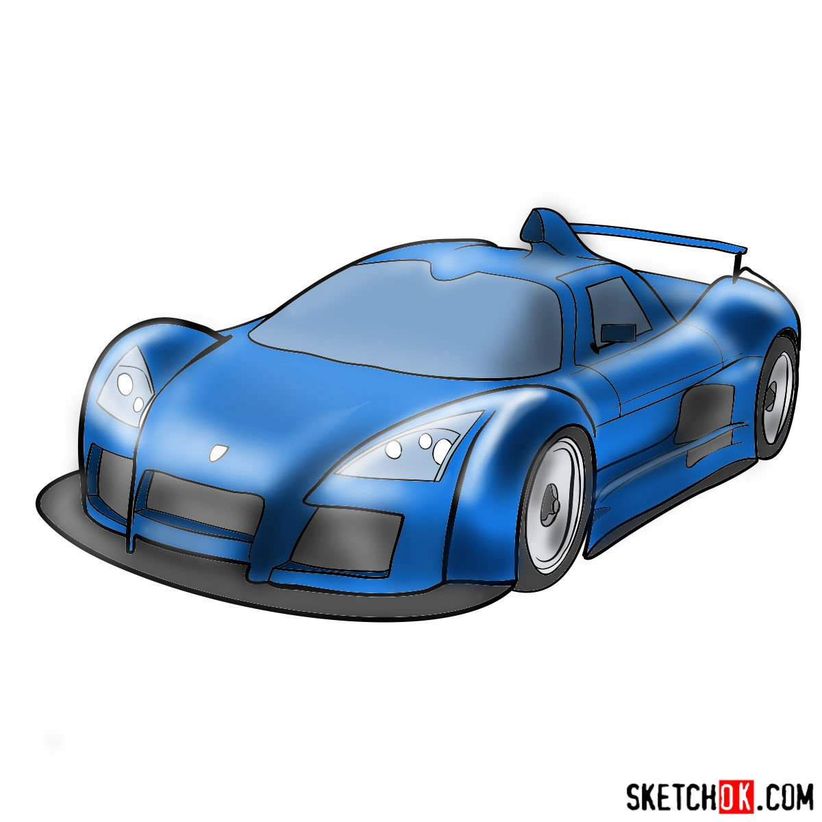How to draw Gumpert Apolo Sport 2005