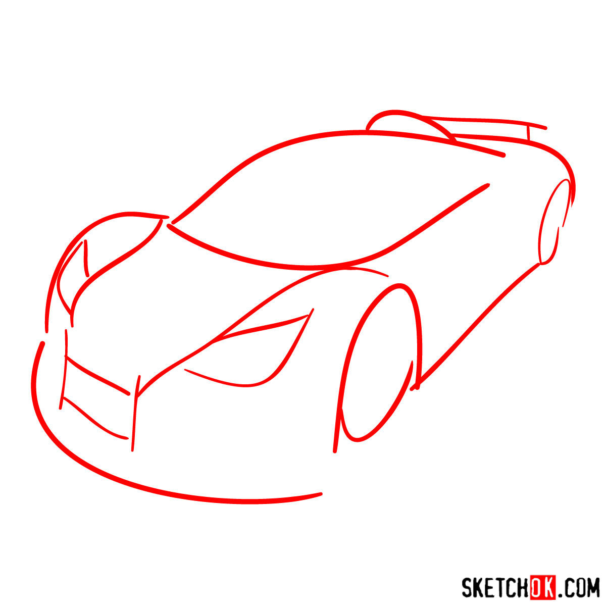 How to draw Gumpert Apolo Sport 2012 - step 01
