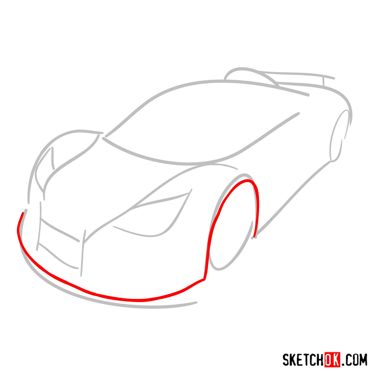 How to draw Gumpert Apolo Sport 2012 - step 02