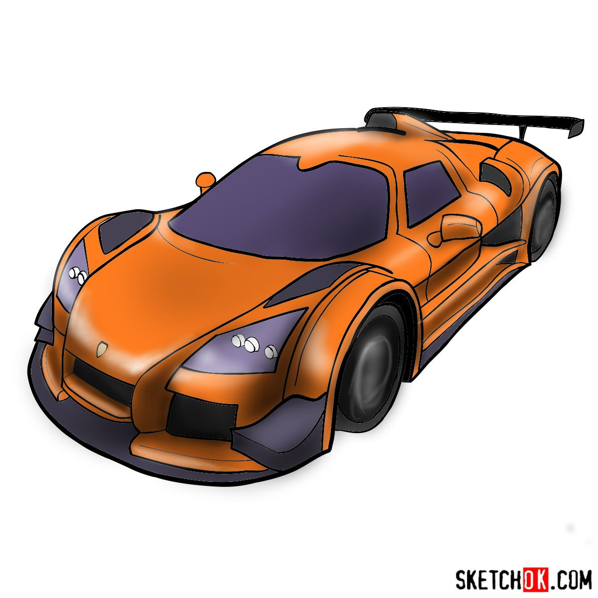 How to draw Gumpert Apolo Sport 2012