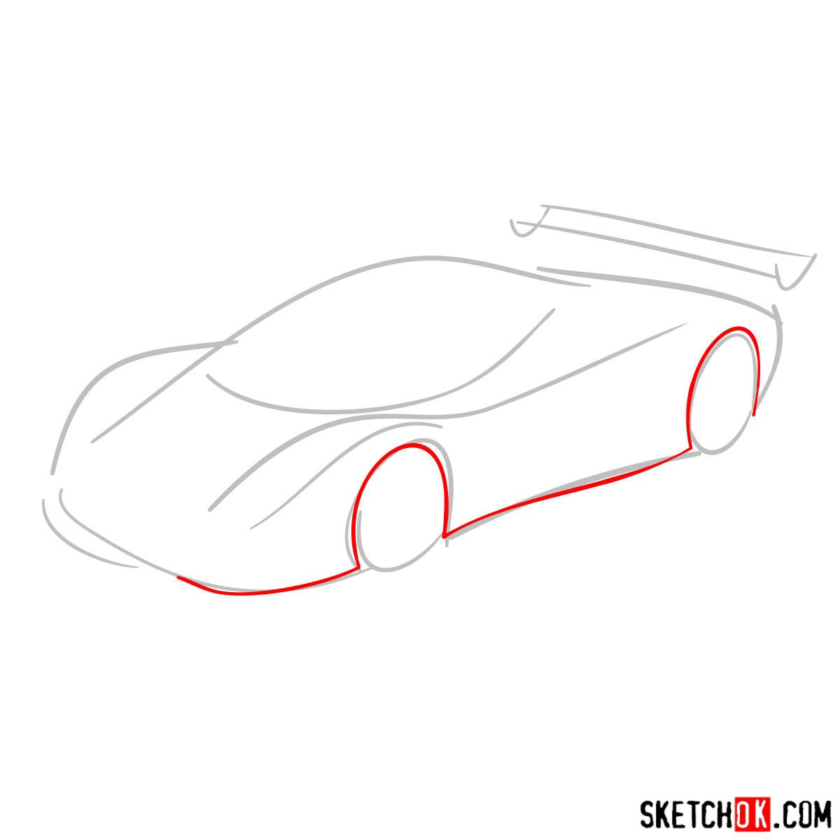 How to draw Pagani Zonda - step 02