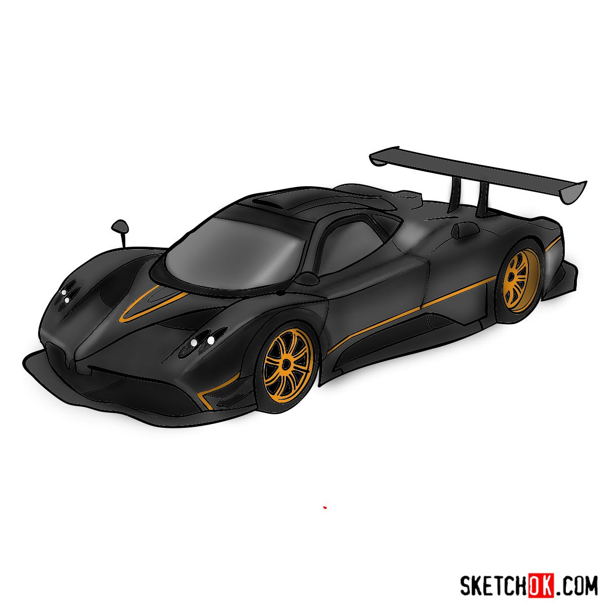 How to draw Pagani Zonda
