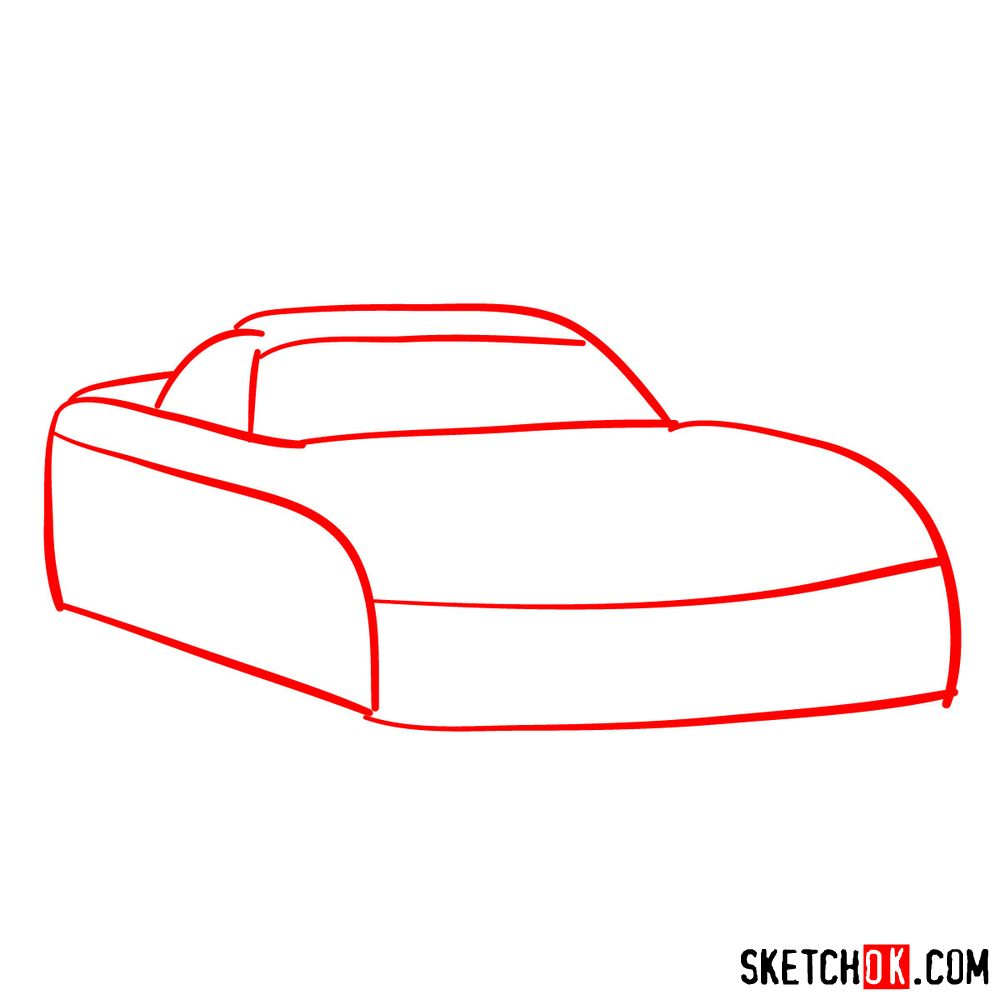 How to draw 2008 Dodge Viper SRT10 ACR - step 01
