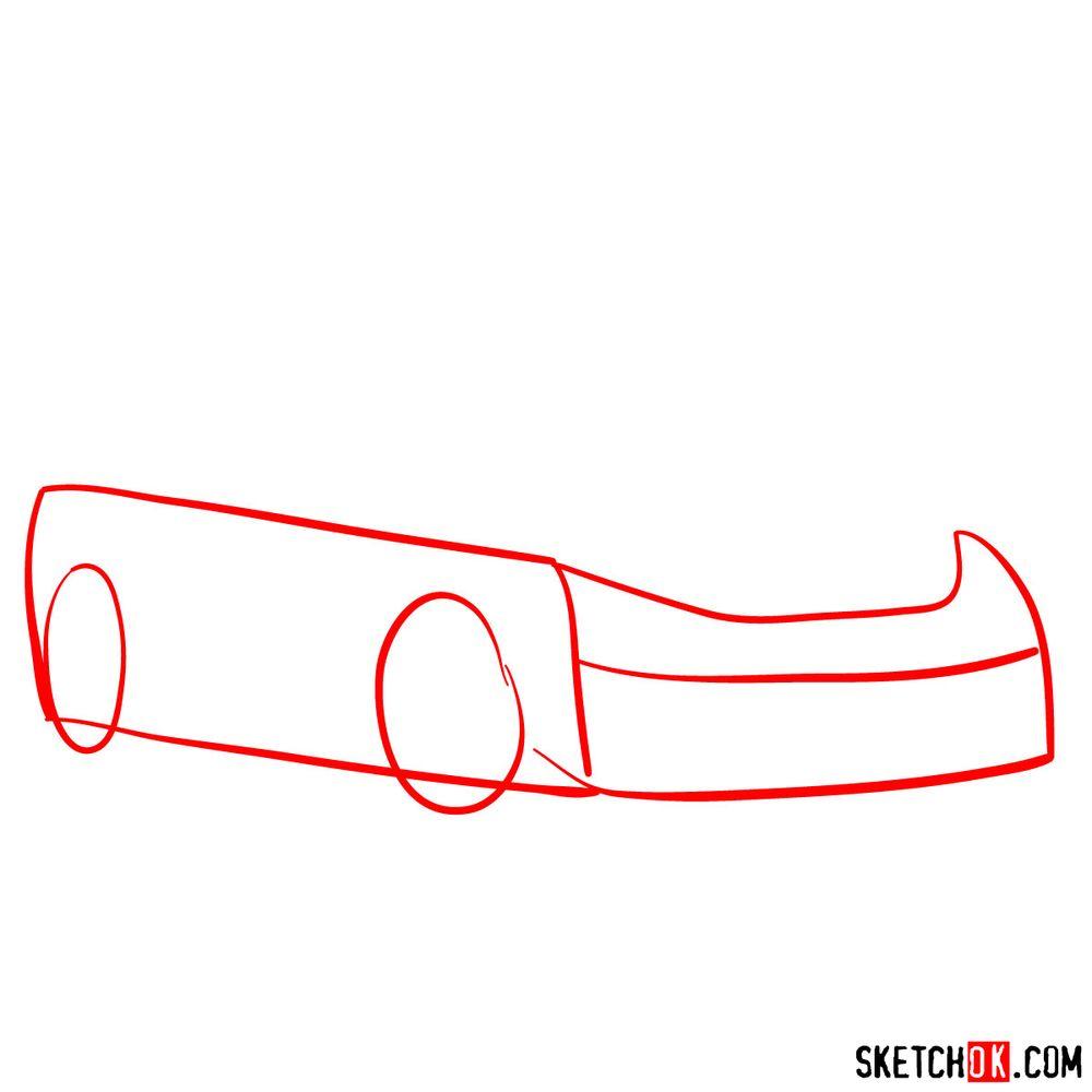 How to draw Lexus LFA - step 01