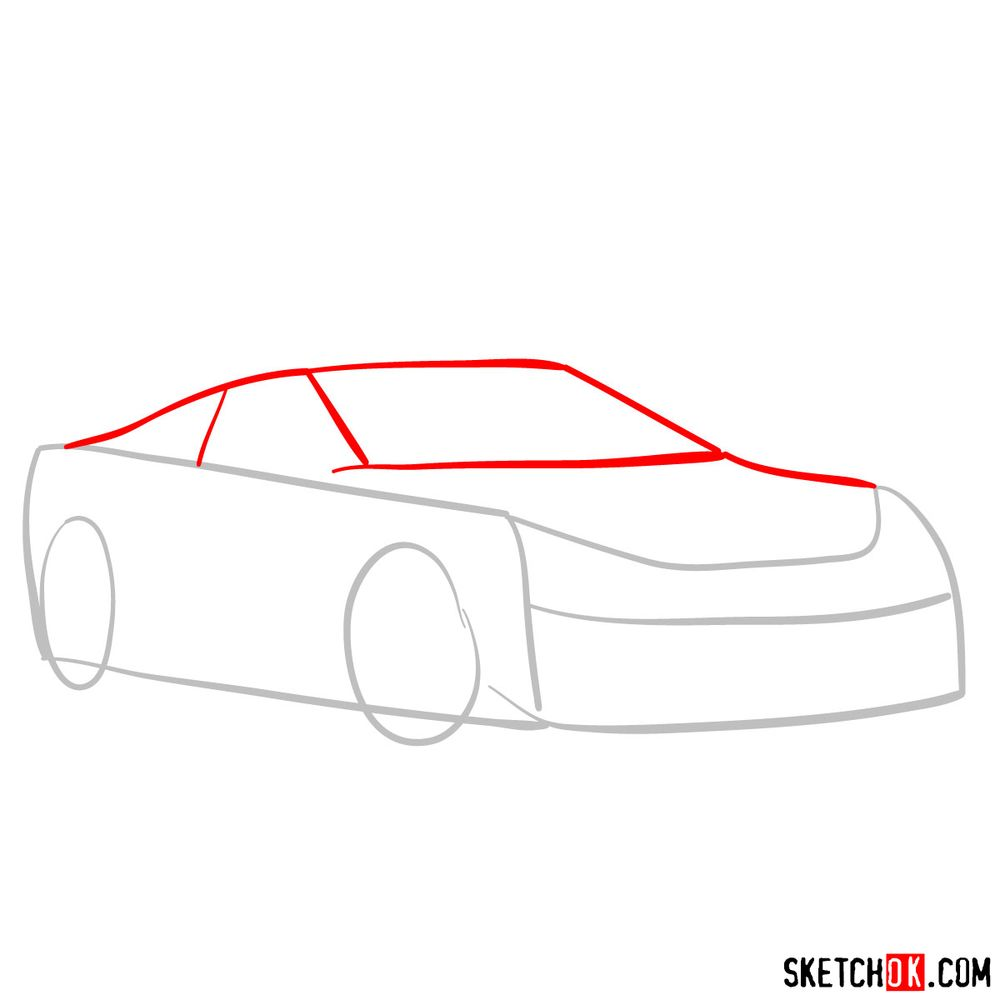 How to draw Lexus LFA - step 02