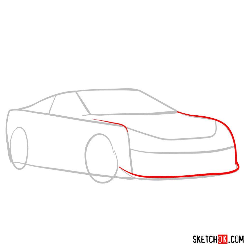 How to draw Lexus LFA - step 03