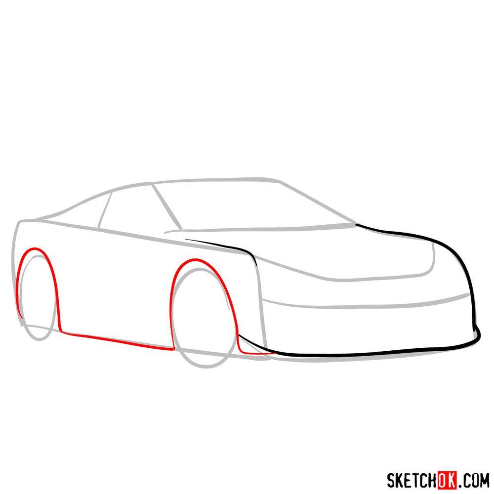 How to draw Lexus LFA - step 04