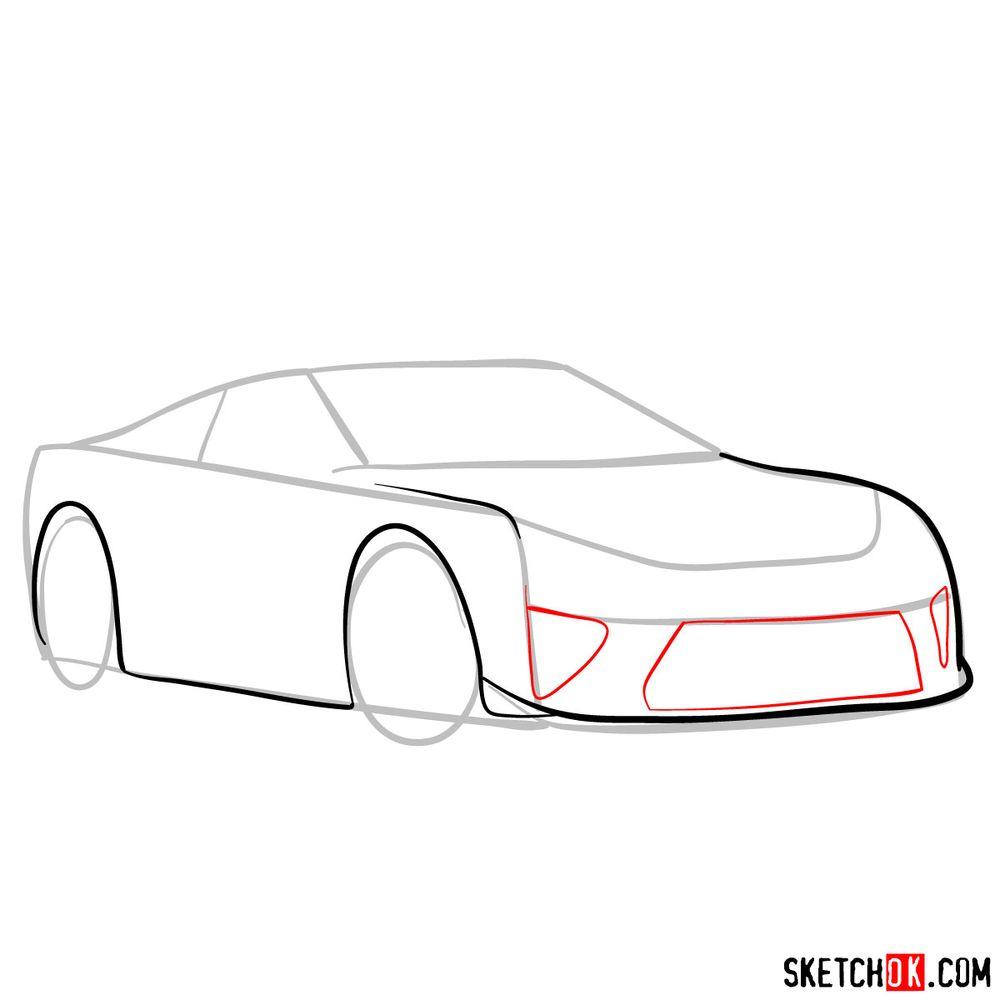 How to draw Lexus LFA - step 05
