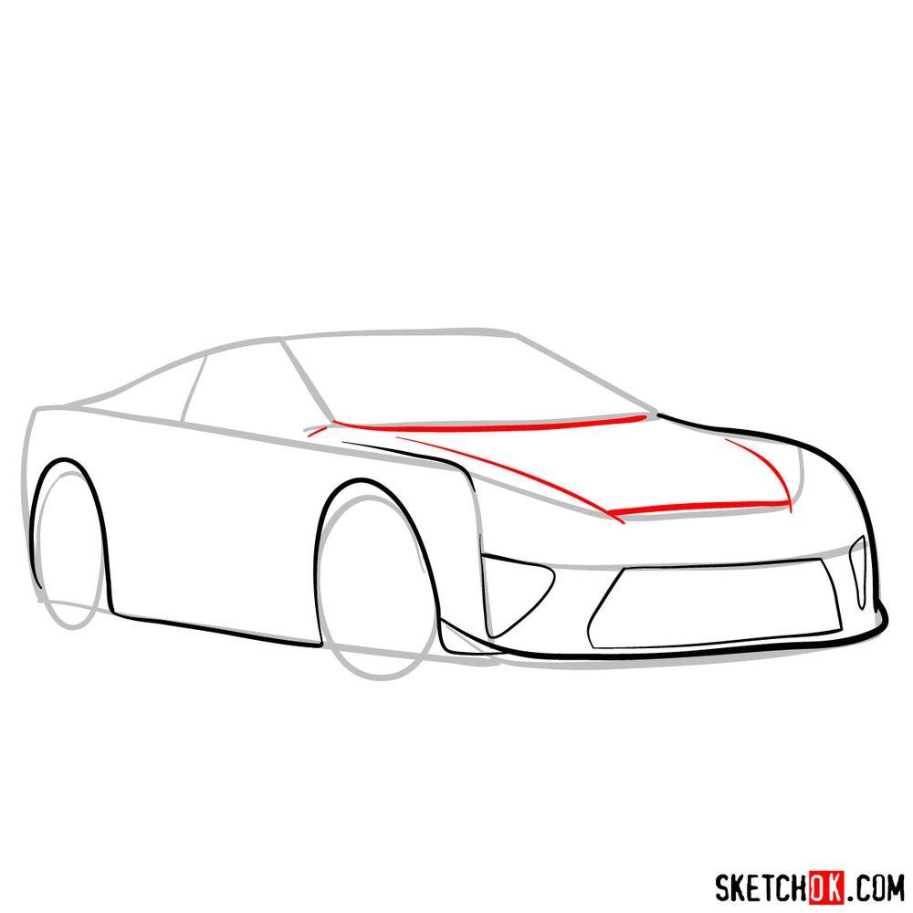 How to draw Lexus LFA - step 06