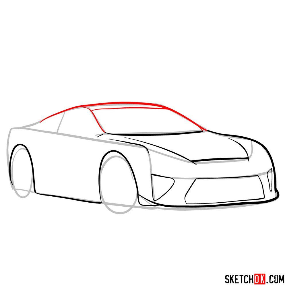 How to draw Lexus LFA - step 07