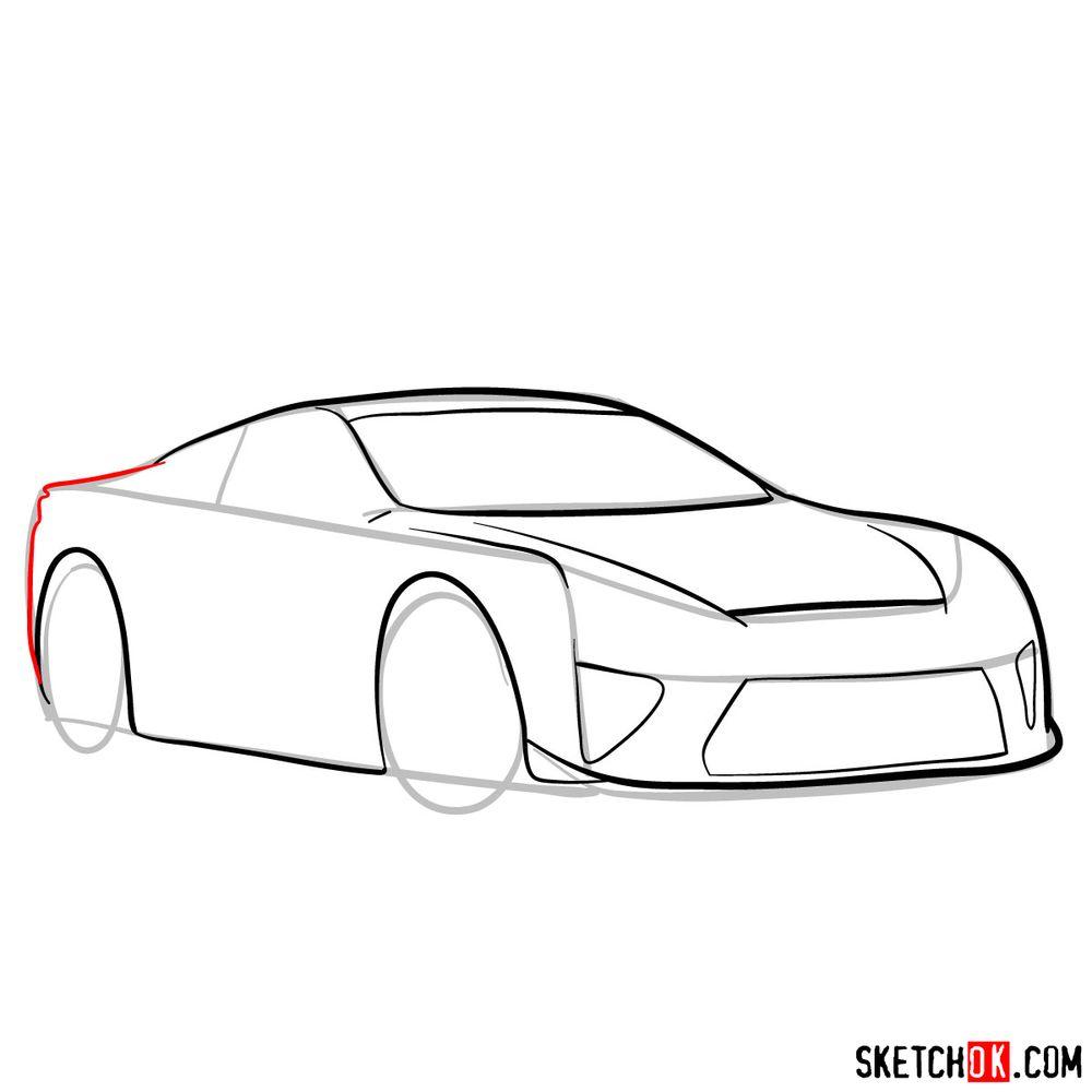How to draw Lexus LFA - step 08