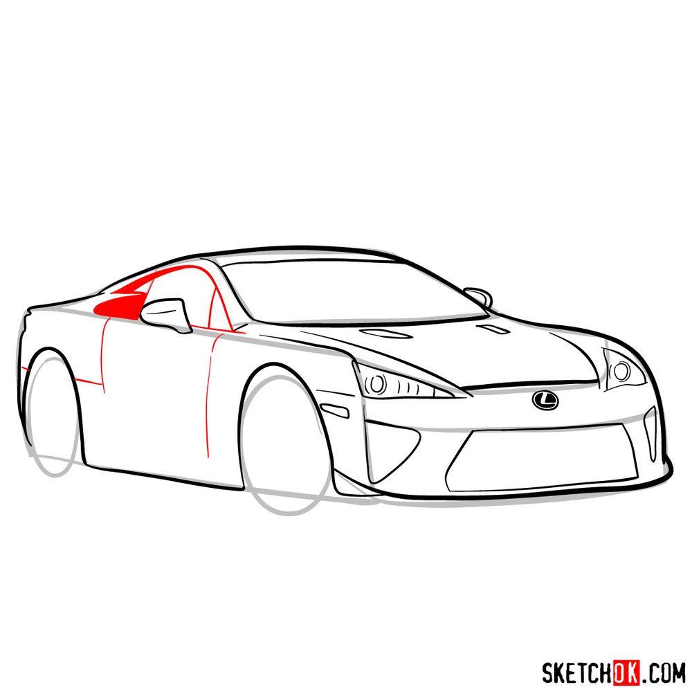 How to draw Lexus LFA - step 11