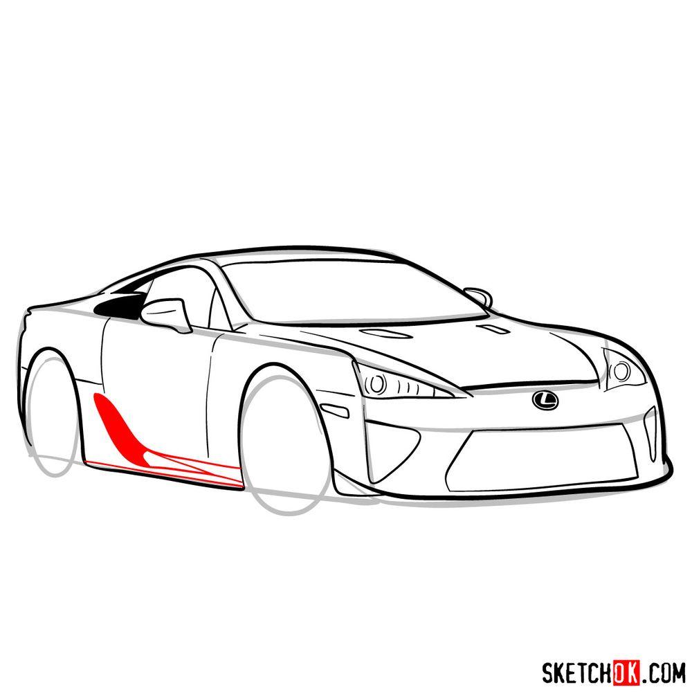 How to draw Lexus LFA - step 12