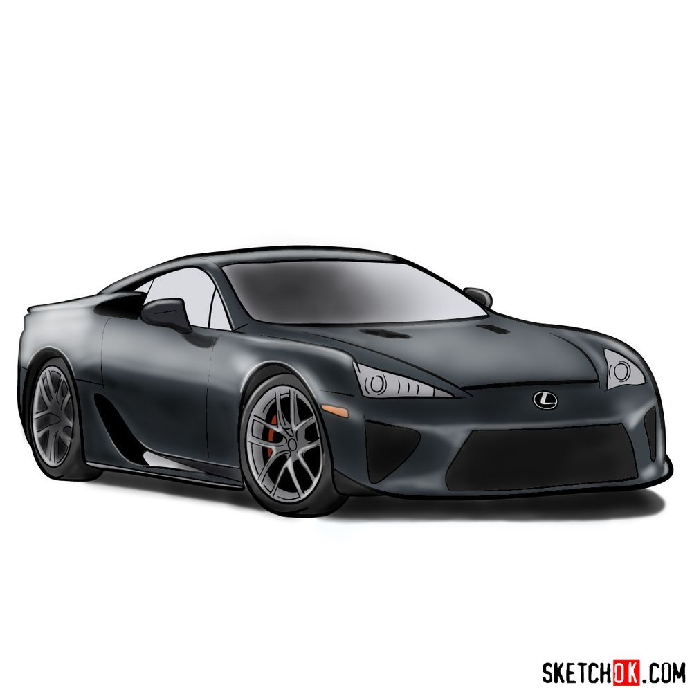 How to draw Lexus LFA