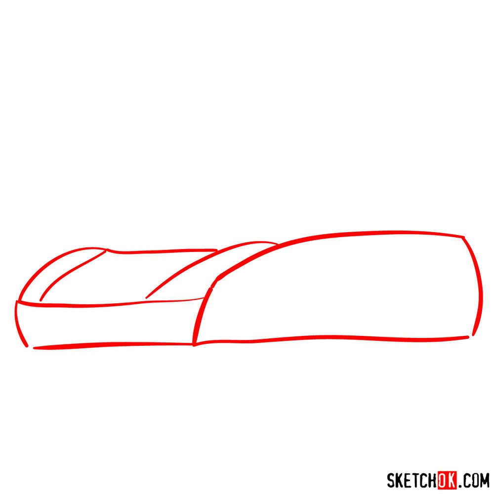 How to draw McLaren MP4-12C - step 01