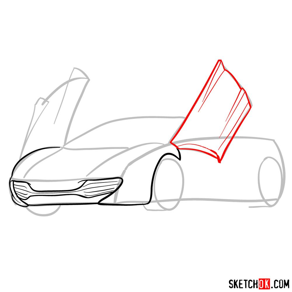 How to draw McLaren MP4-12C - step 06