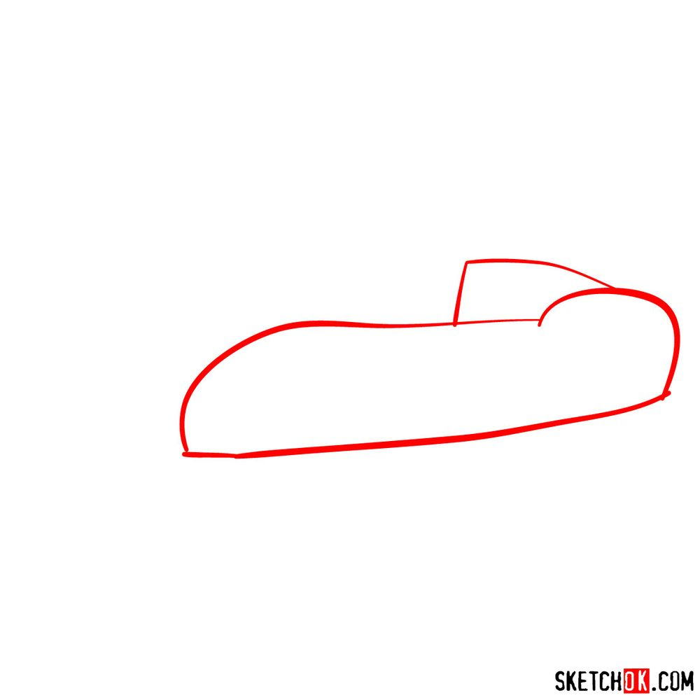 How to draw the 1962 Ferrari 250 GTO - step 01