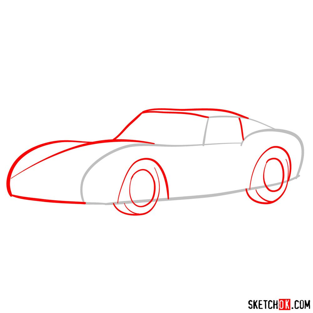 How to draw the 1962 Ferrari 250 GTO - step 02