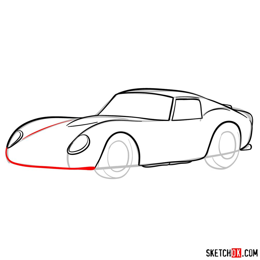 How to draw the 1962 Ferrari 250 GTO - step 08