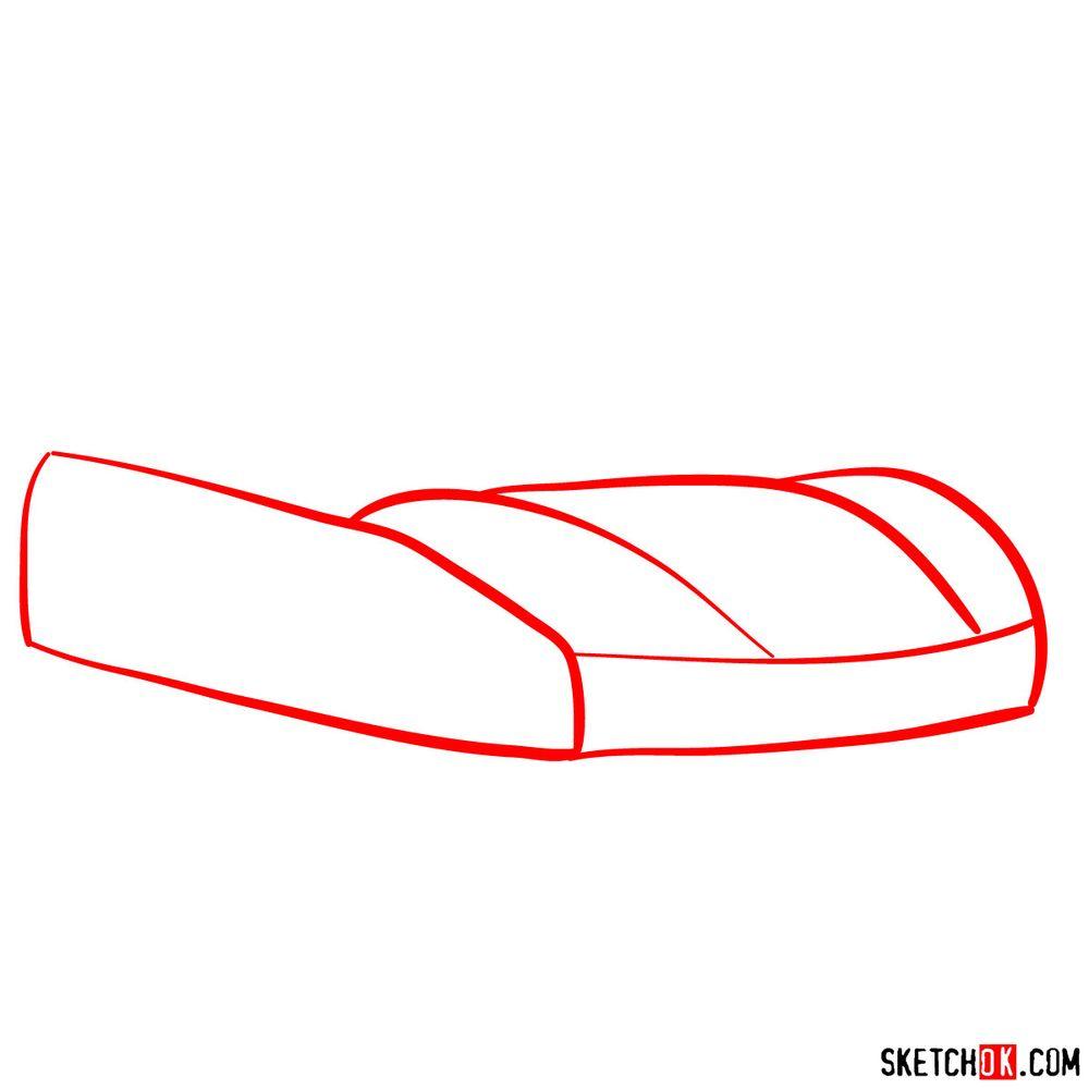 How to draw Porsche 918 Spyder - step 01
