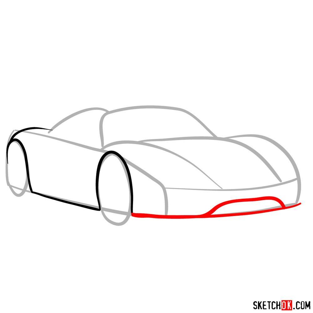 How to draw Porsche 918 Spyder - step 04
