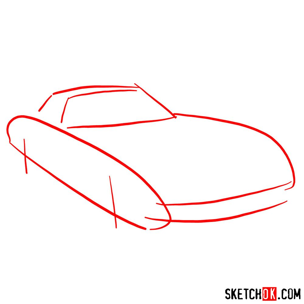 How to draw Ferrari 250 GTO - step 01