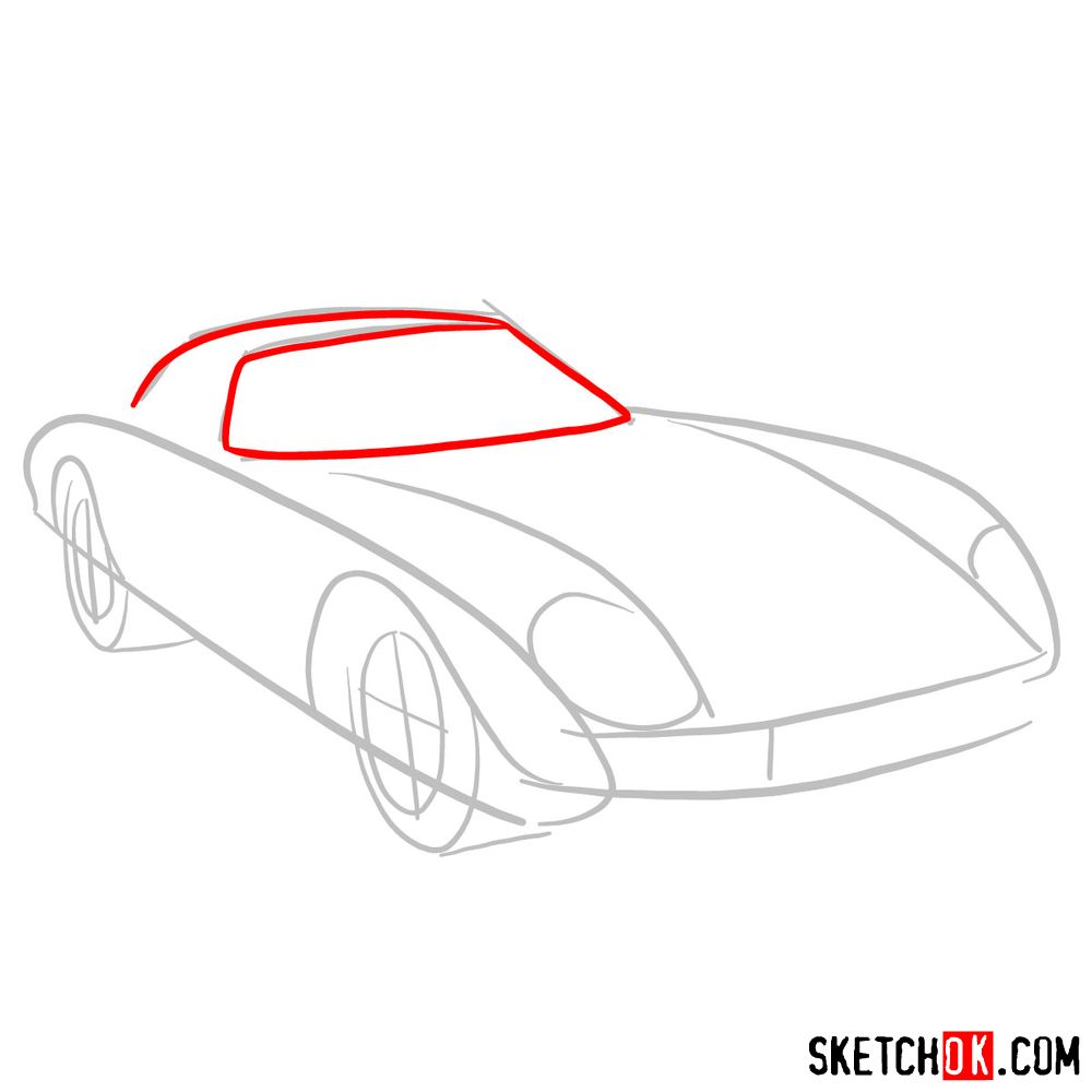 How to draw Ferrari 250 GTO - step 03
