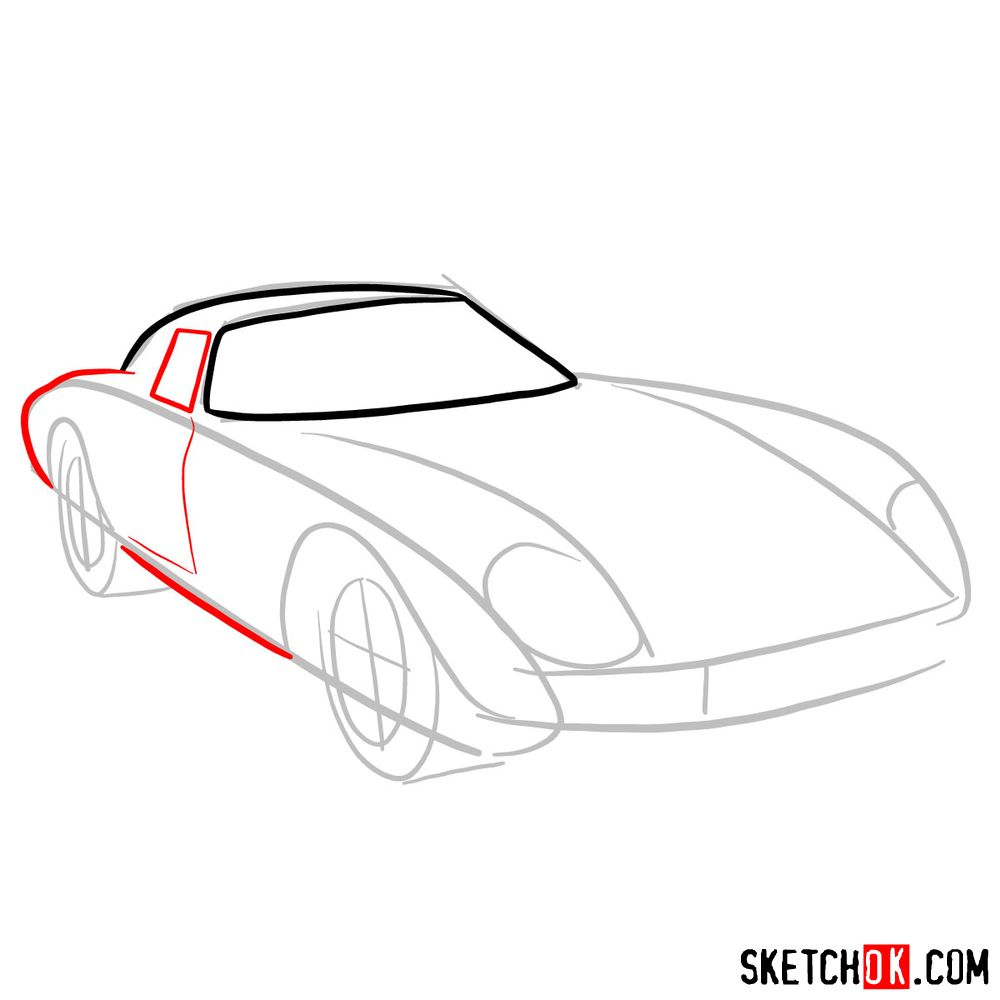 How to draw Ferrari 250 GTO - step 04