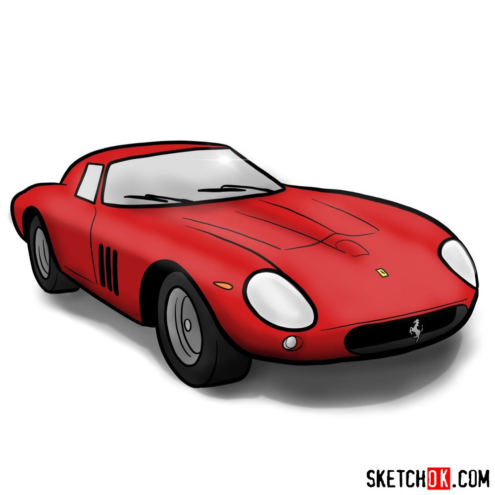 How to draw Ferrari 250 GTO