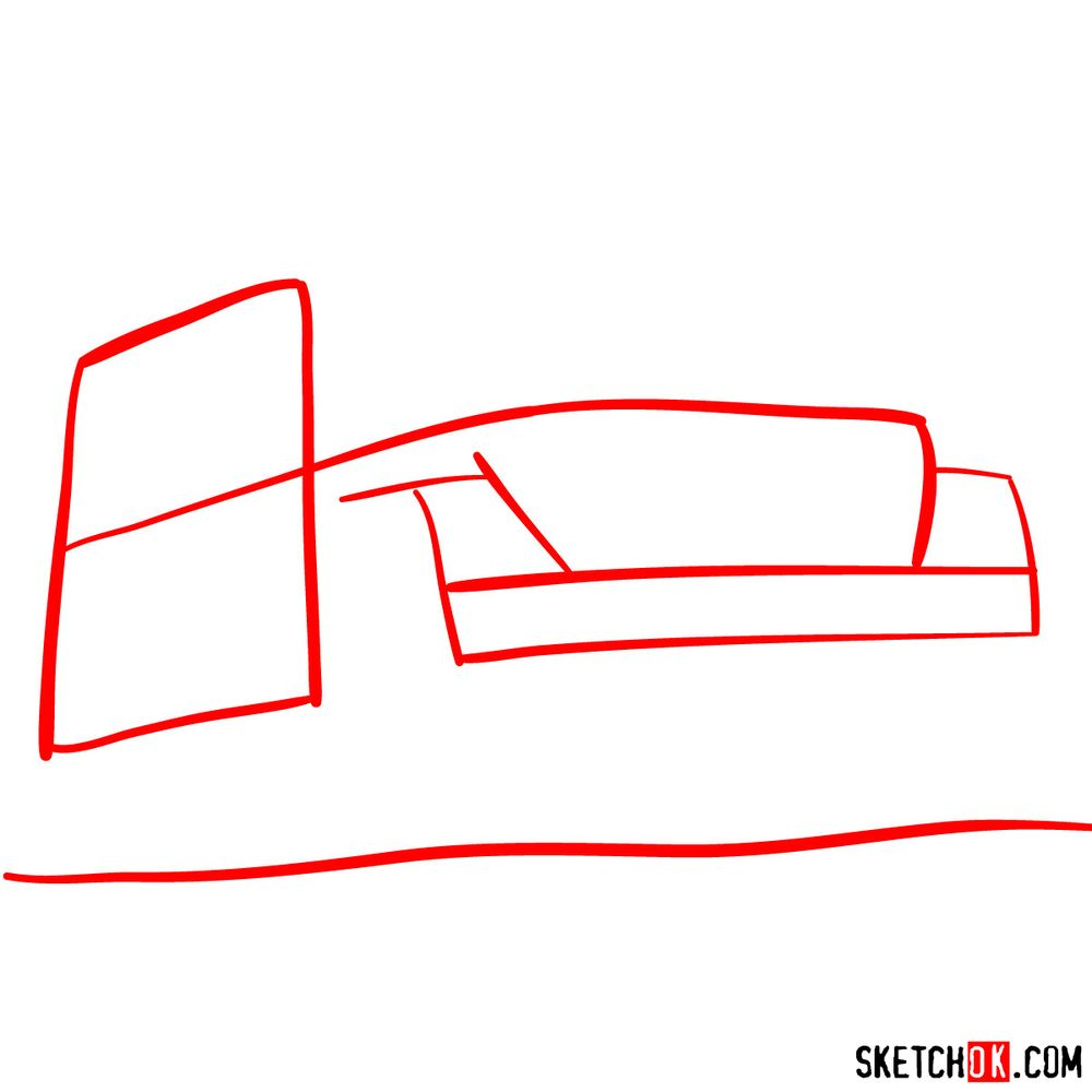 How to draw Jeep Wrangler Rubicon - step 01
