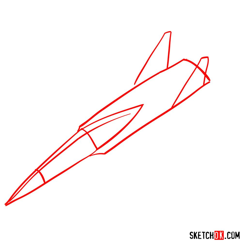 How to draw Russian Su-30MKI Jet (Flanker-H) - step 01