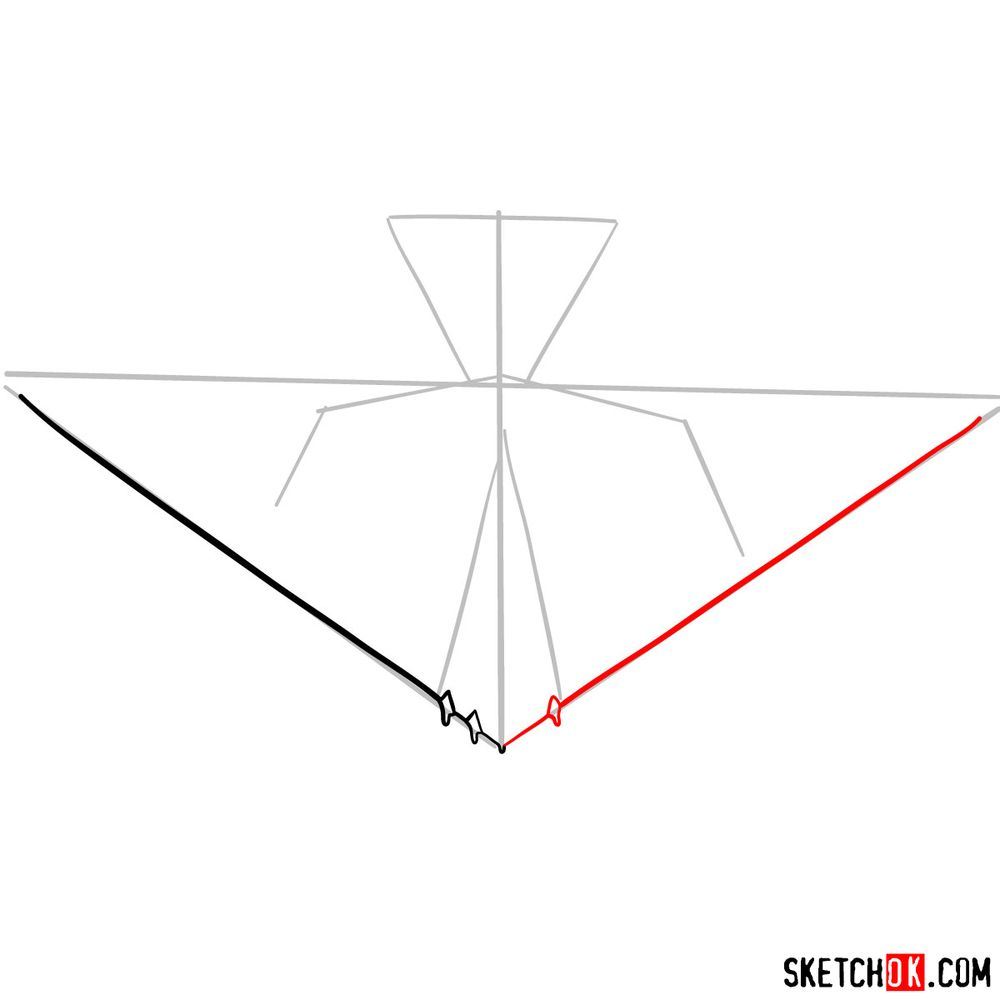 How to draw Lockheed F-117 Nighthawk - step 04