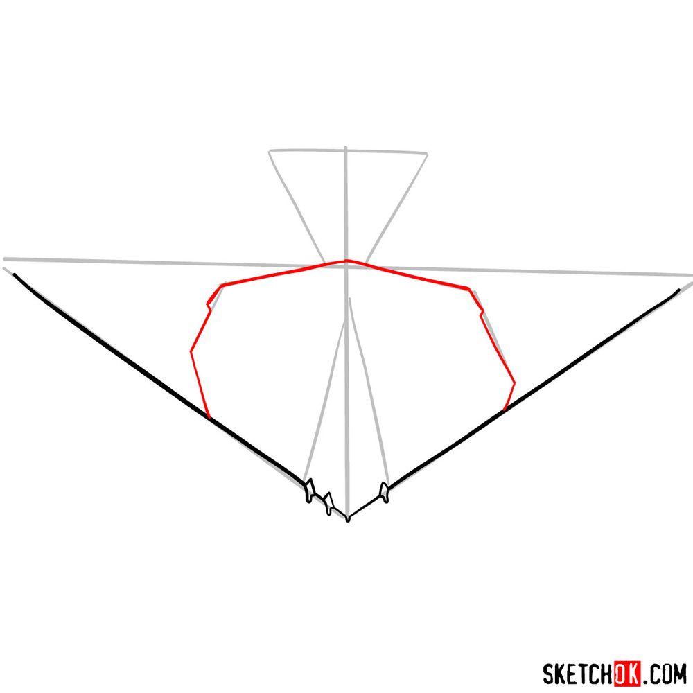 How to draw Lockheed F-117 Nighthawk - step 05