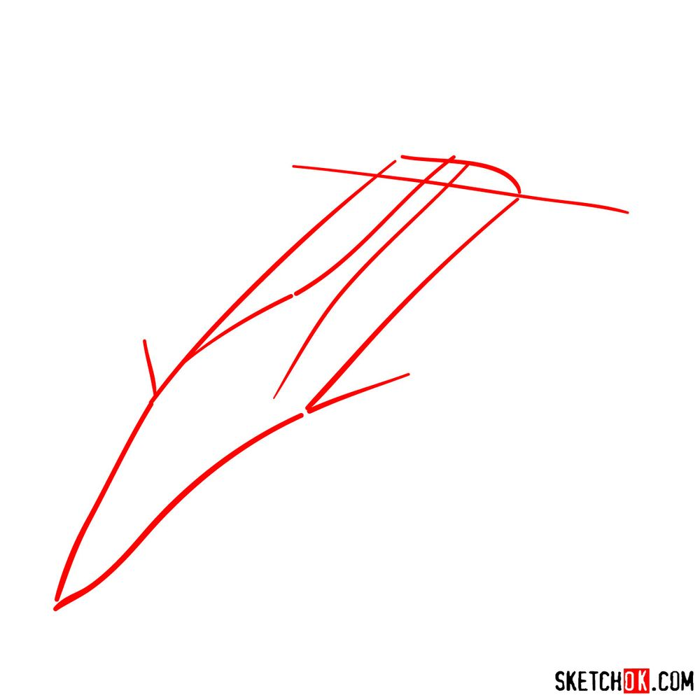 How to draw Su-30MKI (Flanker-H) - step 01