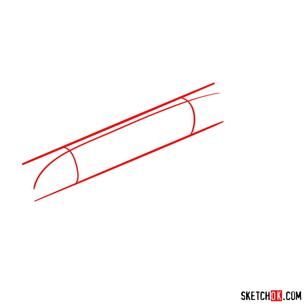 How to draw Airbus A320 - step 01