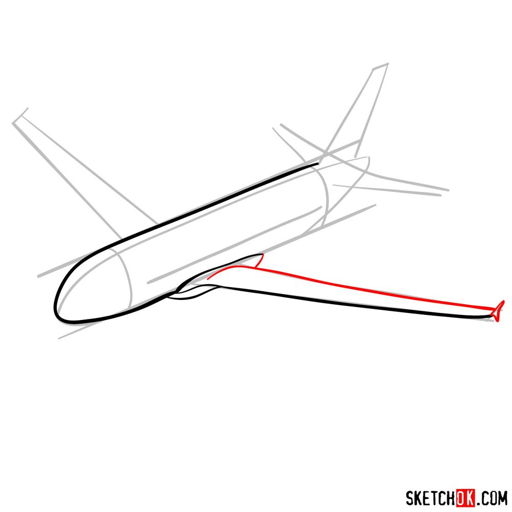How to draw Airbus A320 - step 05