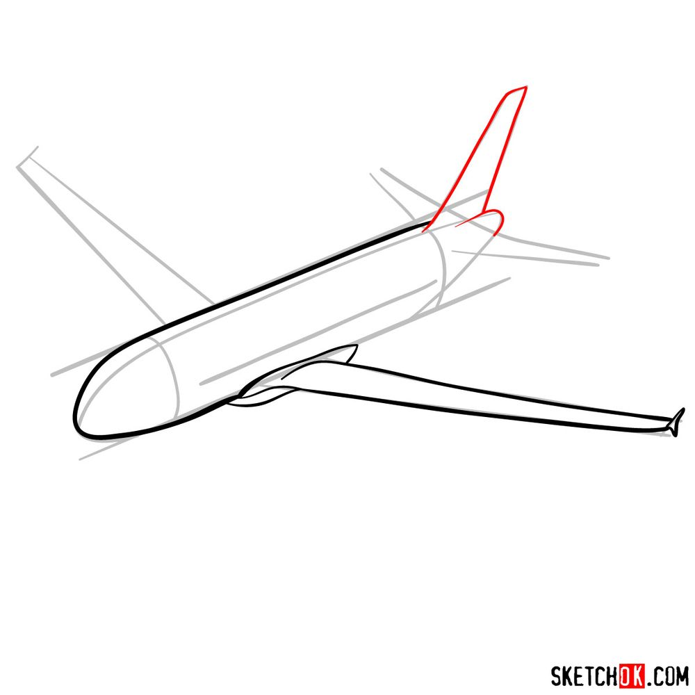 How to draw Airbus A320 - step 06