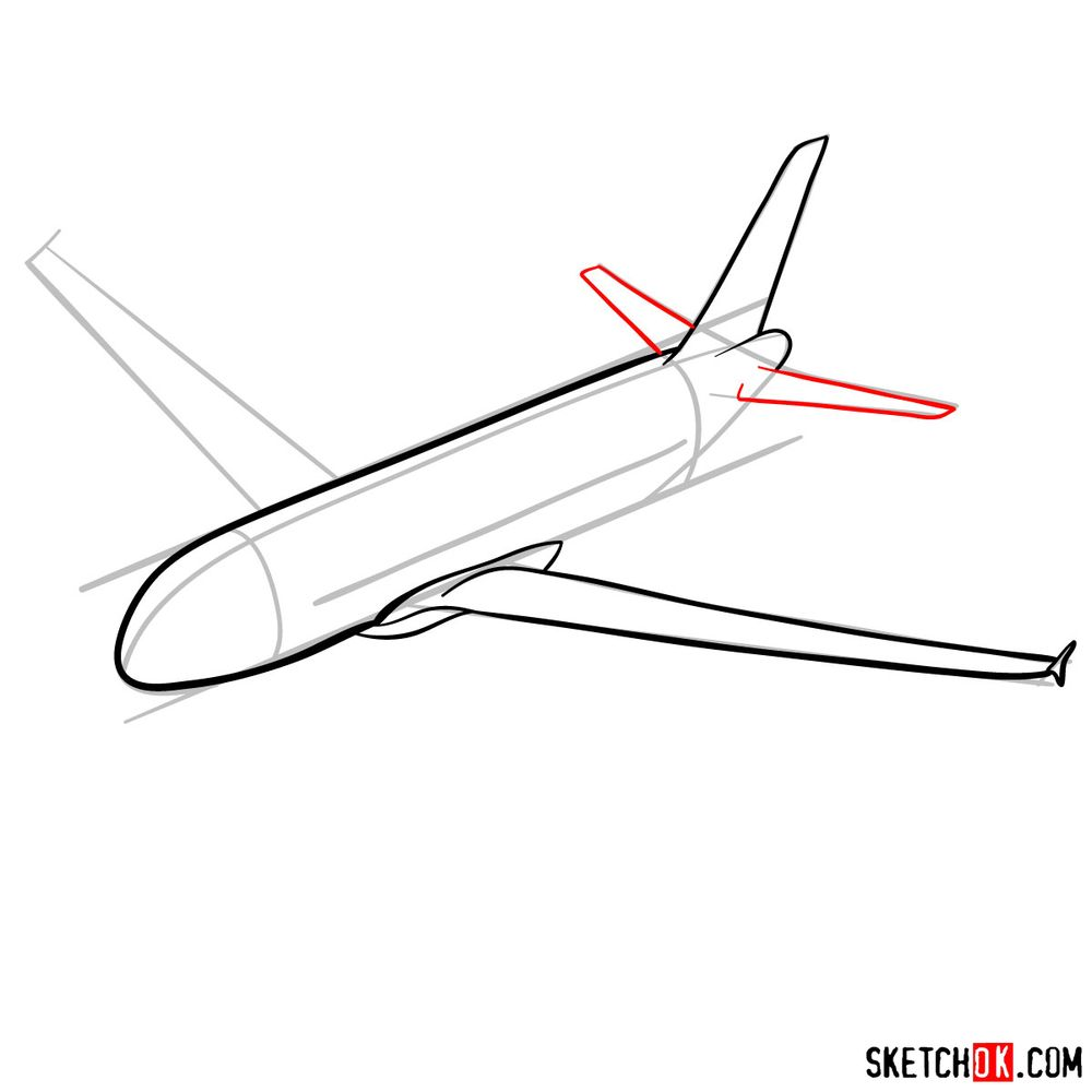 How to draw Airbus A320 - step 07