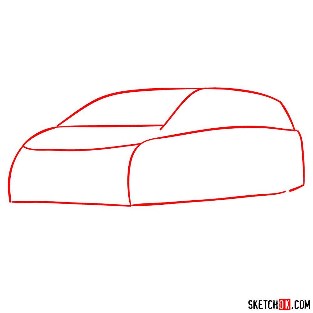 How to draw the 2020 Honda Odyssey Elite - step 01