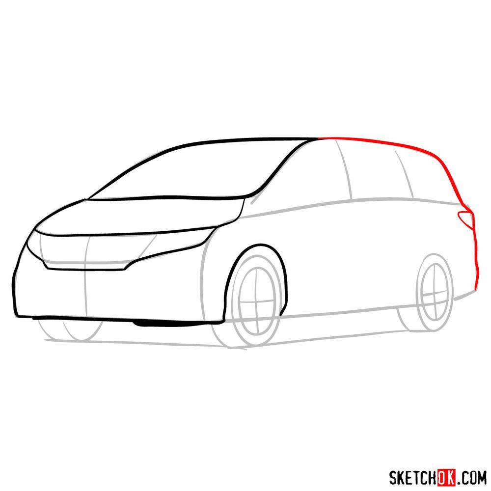 How to draw the 2020 Honda Odyssey Elite - step 06
