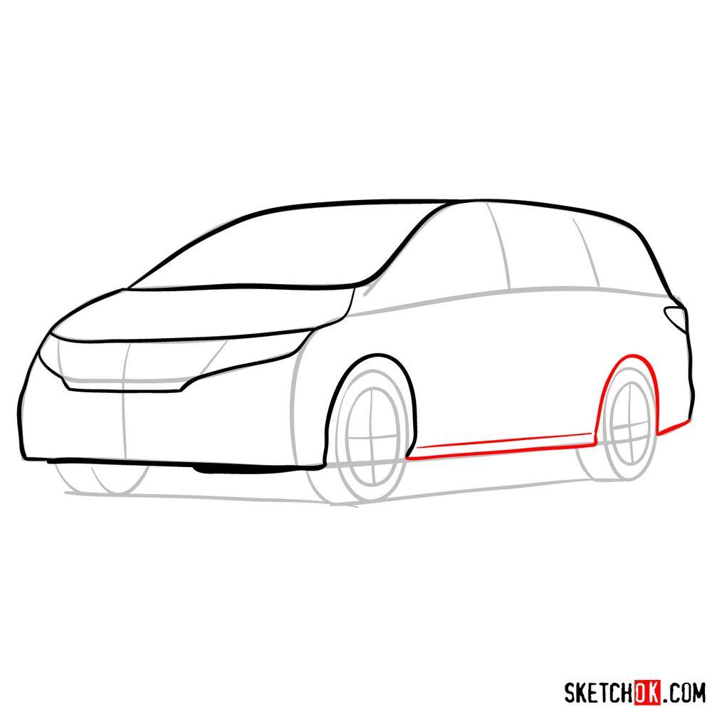 How to draw the 2020 Honda Odyssey Elite - step 07